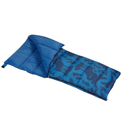 Wenzel Moose 40-50 Degree Youth Sleeping Bag - Blue