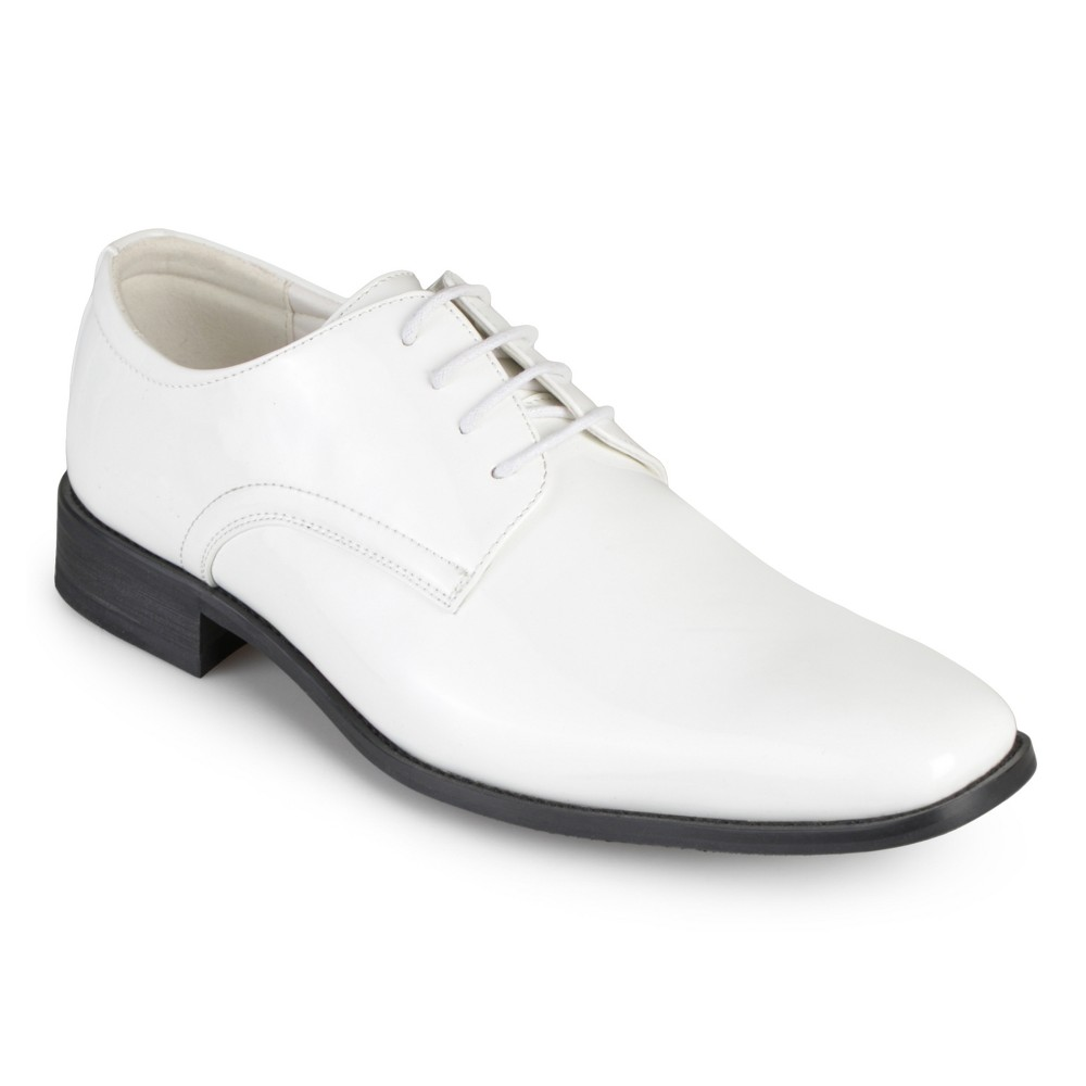 Men's Vance Co. Cole Faux Leather Lace-up Dress Shoes - White 9