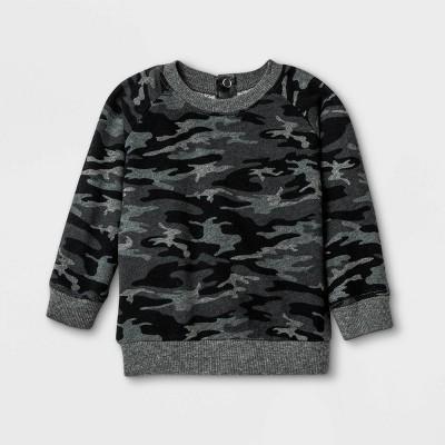 Grayson Mini Baby Girls' Camo Pullover Sweatshirt - Black