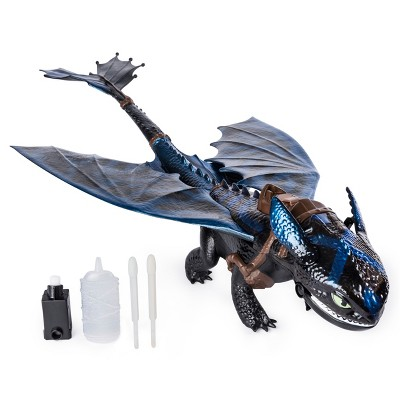 "DreamWorks Dragons Giant Fire Breathing Toothless 20"" Dragon with Fire Breathing Effects and Bioluminescent Color"