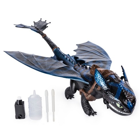 "DreamWorks Dragons Giant Fire Breathing Toothless 20"" Dragon with Fire Breathing Effects and Bioluminescent Color - image 1 of 8"