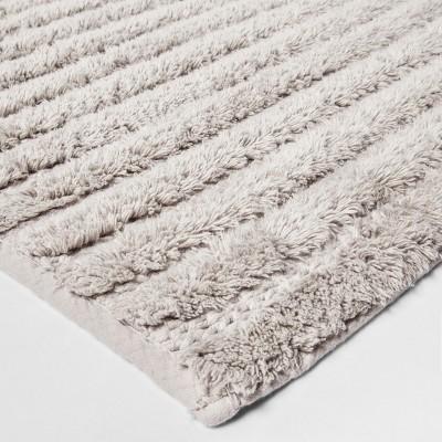 Stitched Stripe Bath Rug (20 x34 )Gray - Threshold™