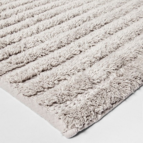 "Stitched Stripe Bath Rug (20""x34"") Gray - Threshold™ - image 1 of 1"