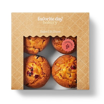 Cranberry Orange Muffins - 16oz/4ct - Favorite Day™