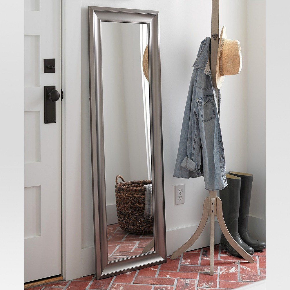 Image of Rectangle Over-the-Door Mirror Silver - MCS