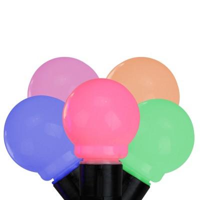 Kurt S. Adler 10ct 50mm Round Glass LED String Lights Multi-Color - 15' Black Wire