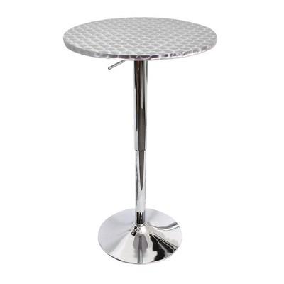 Bistro Bar Table - Silver - Round - LumiSource