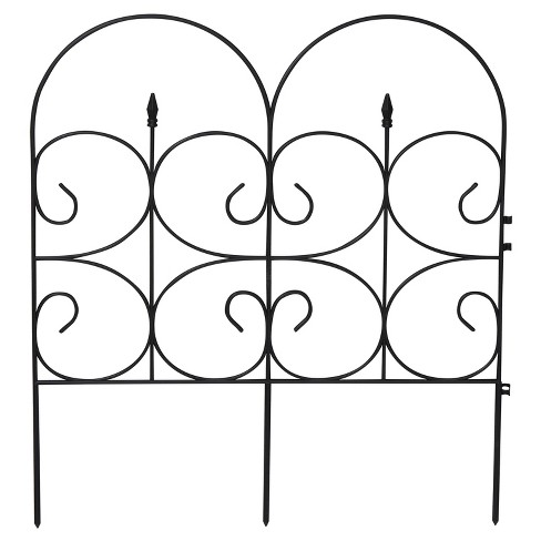 """14' Victorian Fencing Large (32.4"""" X 28.3""""), Poly Fence, 6 Pc - Black - Emsco - image 1 of 1"""