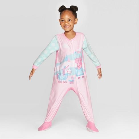 Toddler Girls' Peppa Pig & Unicorn Blanket Sleeper - Blue - image 1 of 3