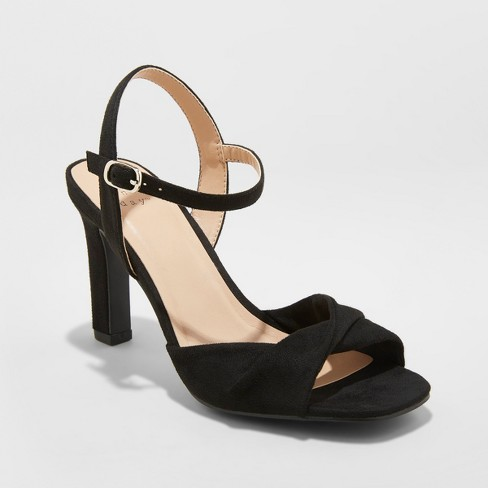 Women's Tawnie Twist Front Heeled Pumps - A New Day™ - image 1 of 3