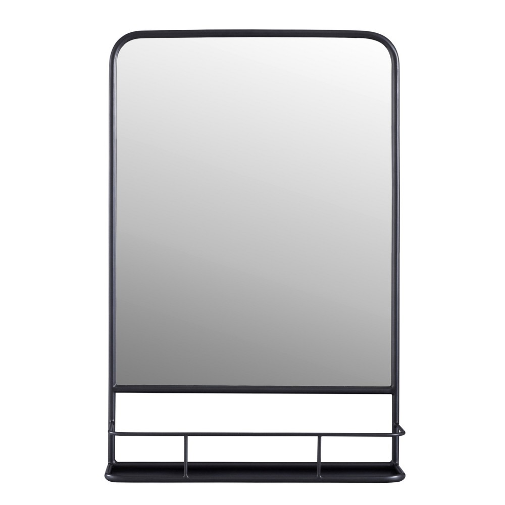 """Image of """"20""""""""x30"""""""" Pharmacy Mirror With Metal Shelf (Powder Coated) Mirror Pewter - Threshold , Silver"""""""