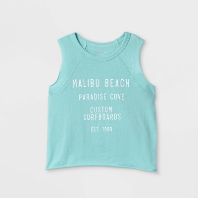Grayson Mini Toddler Girls' Malibu Beach Tank Top - Blue