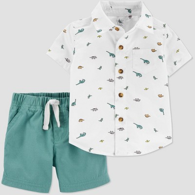 Baby Boys' 2pc Dino Top & Bottom Set - Just One You® made by carter's Green Newborn