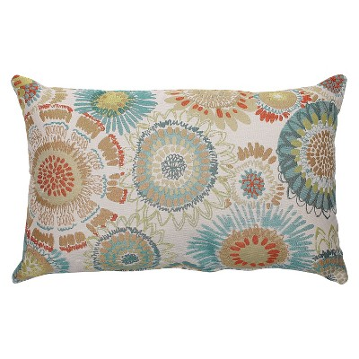 Pillow Perfect Maggie Mae Aqua Throw Pillow - Multicolored (18.5 x11.5 )