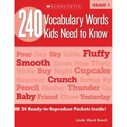 240 Vocabulary Words Kids Need to Know: Grade 1 - by  Linda Beech (Paperback) - image 1 of 1