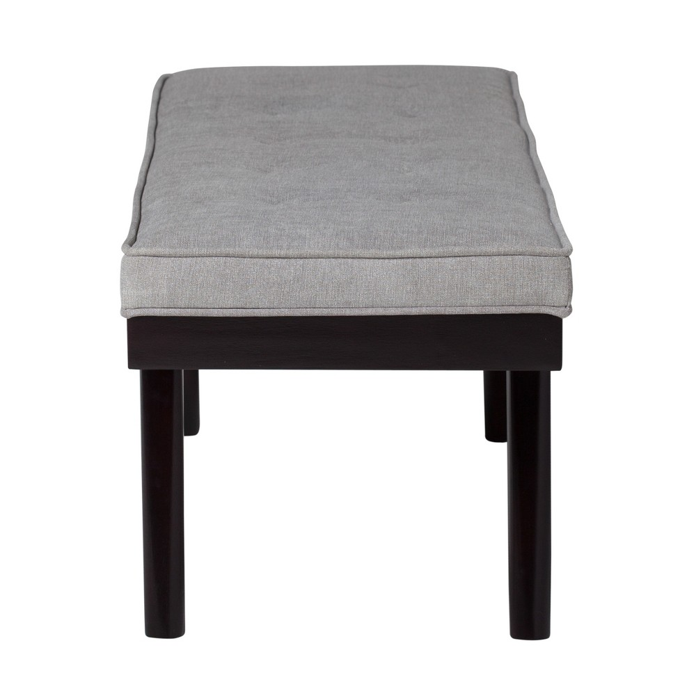 Home Parvise Tufted Microfiber Bench 51 - Gray - Studio Designs, Heather Gray