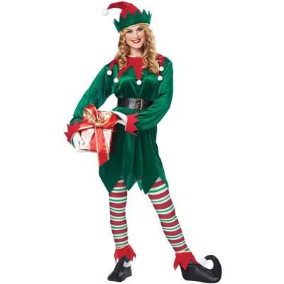 California Costumes Christmas Elf Adult Costume