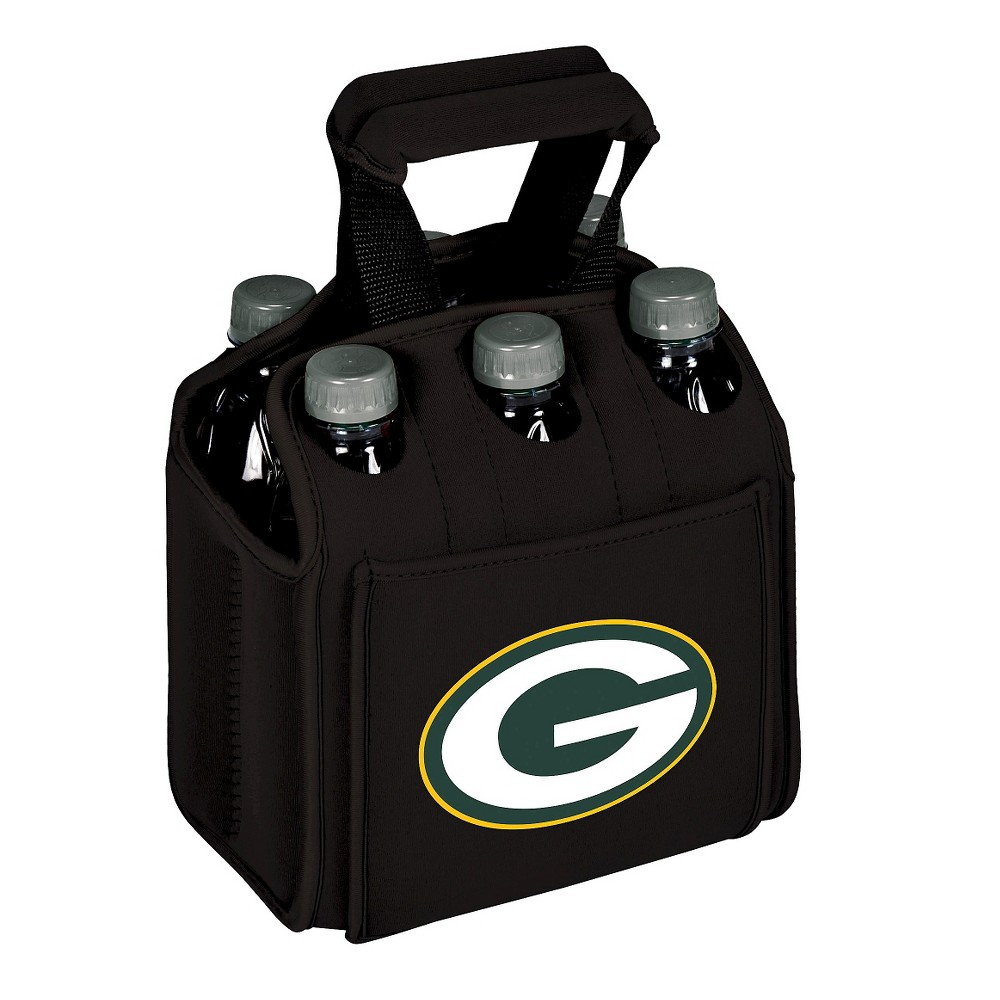 Green Bay Packers - Six Pack Beverage Carrier by Picnic Time (Black)