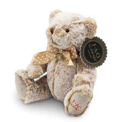 "FAO Schwarz Adopt A Pet Toy Plush - 10"" Gray Bear"