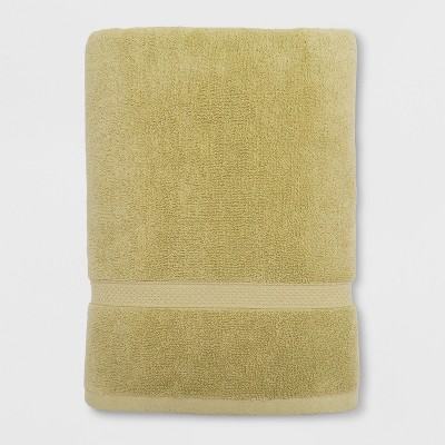 Perfectly Soft Solid Bath Towel Bead Mustard Yellow - Opalhouse™