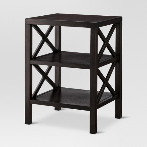 Owings End Table With 2 Shelves Threshold
