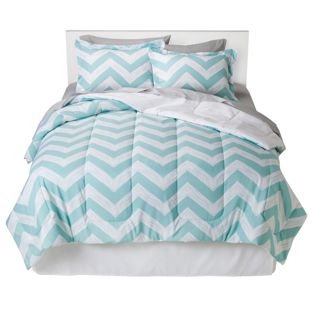 Aqua Chevron Bed In A Bag (Twin) - Room Essentials, Blue ...
