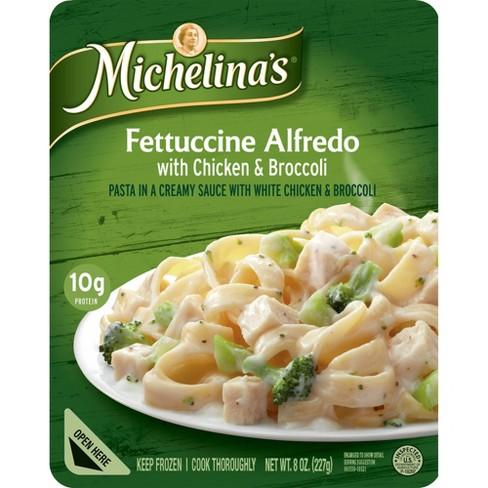 Michelina's Fettuccine Alfredo with Frozen Chicken & Broccoli - 8oz - image 1 of 3