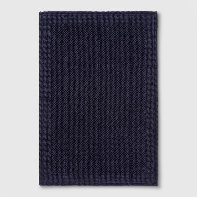 30 x21  Performance Textured Bath Mat Navy Blue - Threshold™