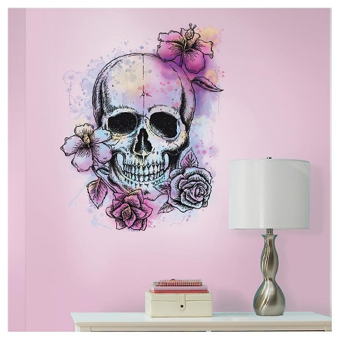 RoomMates Bright Floral Skull Peel & Stick Giant Wall Decals - image 1 of 1