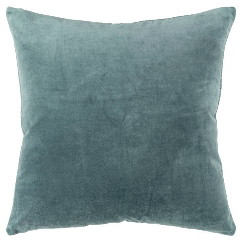 """22""""x22"""" Oversize Square Throw Pillow Cover Teal - Rizzy Home - image 1 of 4"""