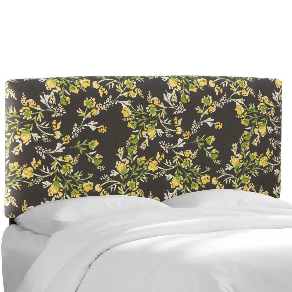 Twin Riley Upholstered Headboard Brown Floral - Cloth & Co.
