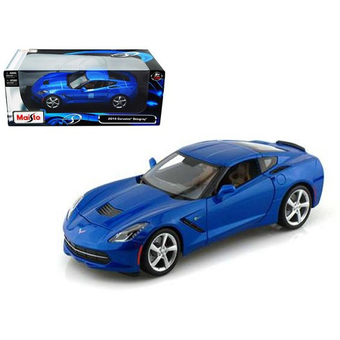 2014 Chevrolet Corvette C7 Stingray Light Blue 1/18 Diecast Model Car by Maisto - image 1 of 1