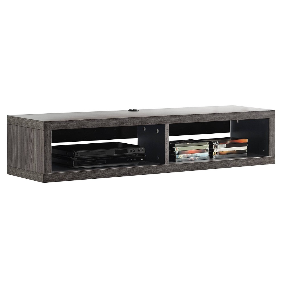 "Image of ""48"""" Wall Mounted Media Console Gray - Martin Furniture, Size: 48"""""""