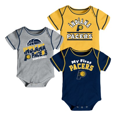 Indiana Pacers Boys' Rookie 3pk Body Suit Set 12 M