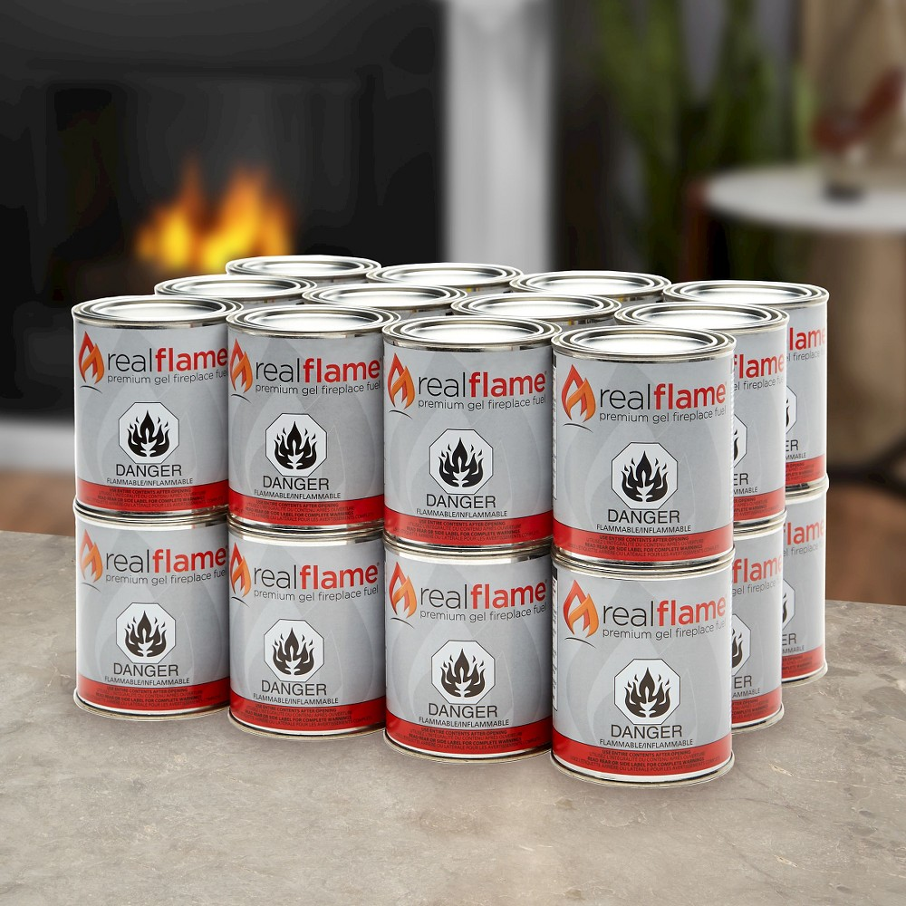 Real Flame 13oz 24pk Premium Gel Fuel Cans