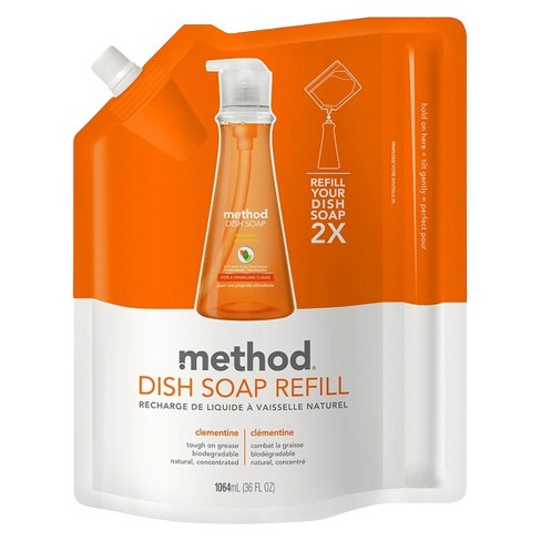 Method Clementine Dish Soap Refill 36 oz - image 1 of 2