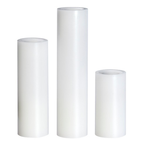 3pk Vanilla Scented LED Pillar Candle Set White - Made By Design™ - image 1 of 3