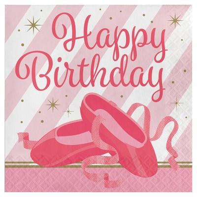 16ct Ballet Birthday Napkins