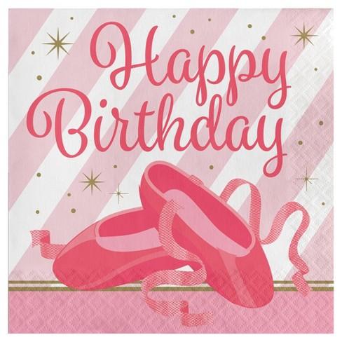 16ct Ballet Birthday Napkins - image 1 of 1
