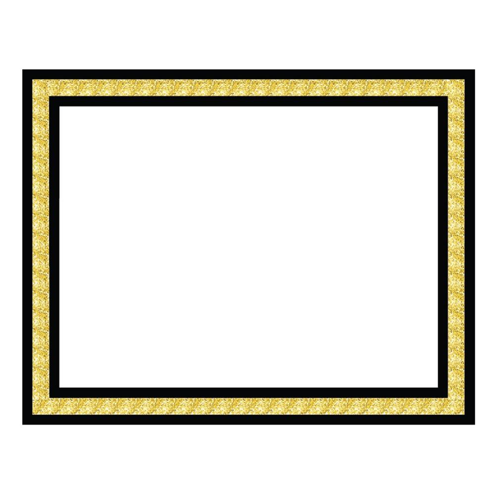Image of ArtSkills Presentation Board with Gold Boarder, White Gold Black
