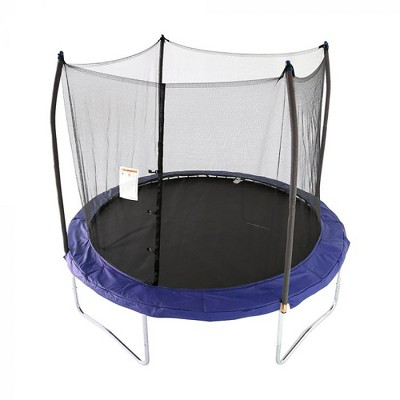 Skywalker Trampolines Heavy Duty Large 10 Foot Round Outdoor Trampoline for Kids with No Gap Safety Net Enclosure, Blue