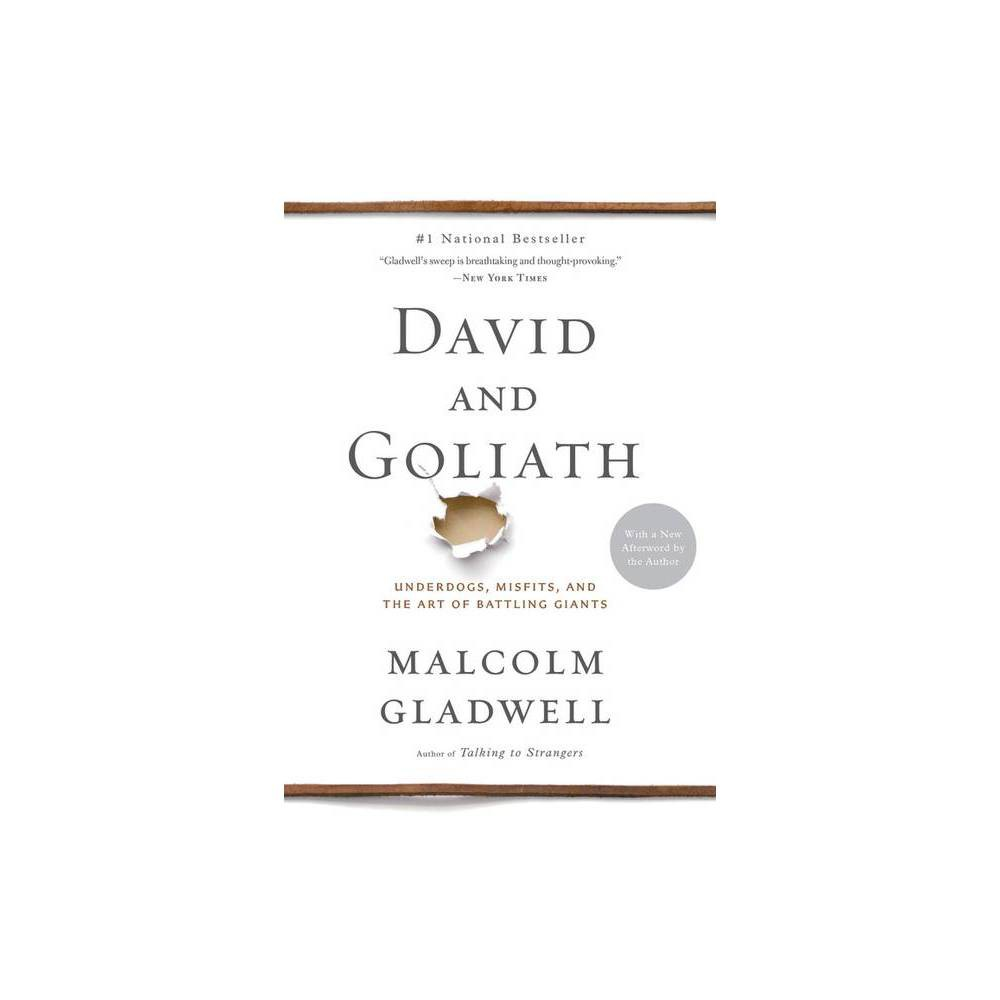 David And Goliath Paperback By Malcolm Gladwell