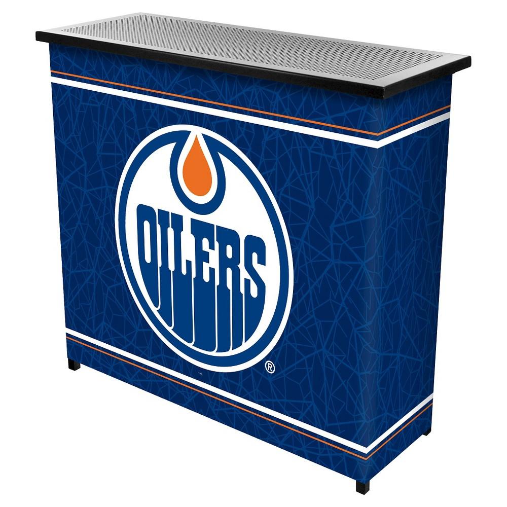 Edmonton Oilers 2 Shelf Portable Bar with Case