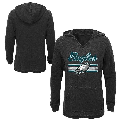 wholesale dealer c9045 cbd11 NFL Philadelphia Eagles Girls' Game Time Gray Burnout Hoodie