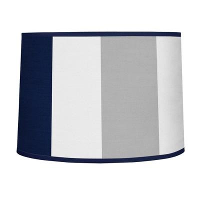 Navy & Gray Stripe Lampshade - Sweet Jojo Designs