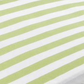 Green and White Stripe