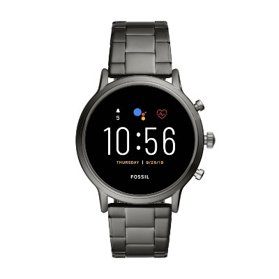 Fossil Gen 5 Smartwatch Carlyle HR 44mm - Smoke Stainless Steel