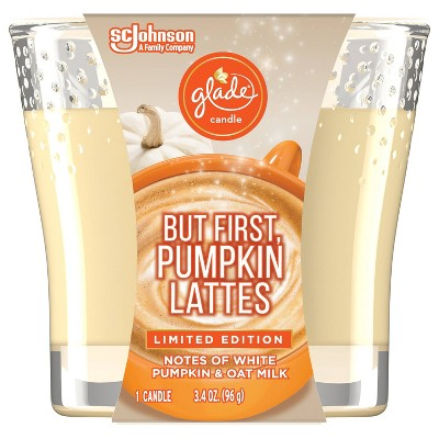 Glade Pumpkin Spice Latte Candle - 3.4oz