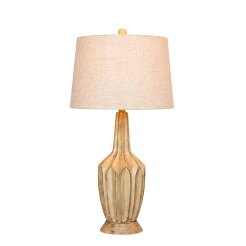 Fluted Genie Bottle Resin Table Lamp Buff Beige  - Fangio Lighting - image 1 of 2