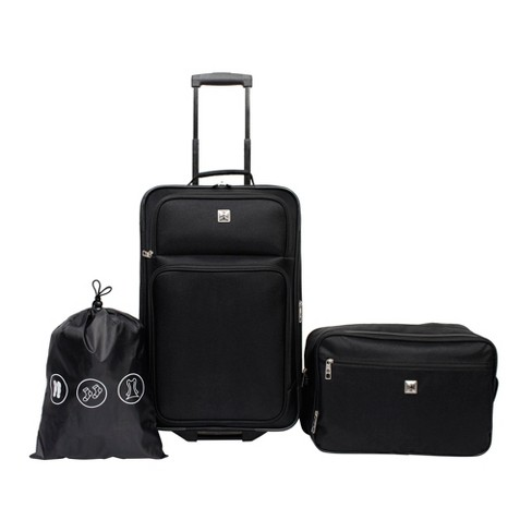 41a76323e4bb Skyline 3pc Luggage Set - Black   Target